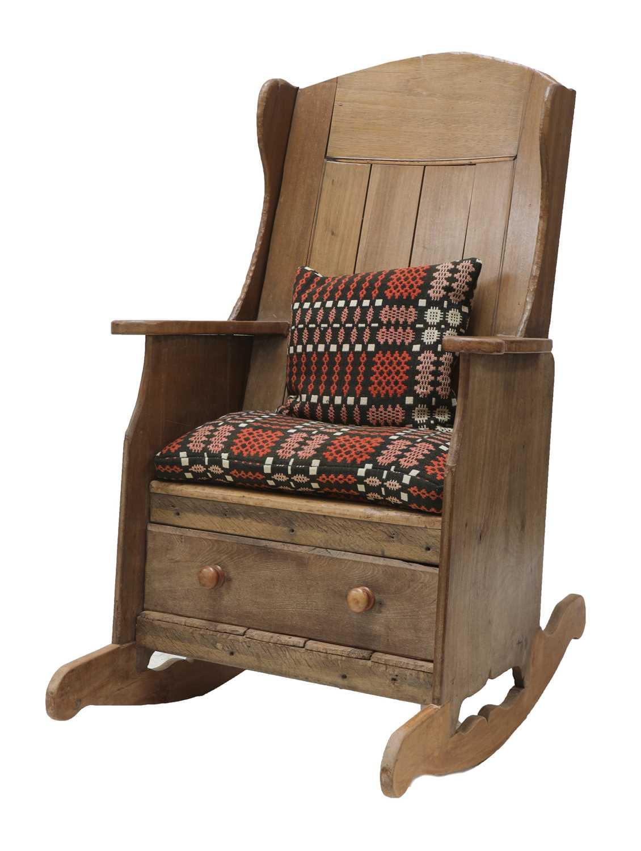 A rocking lambing chair,