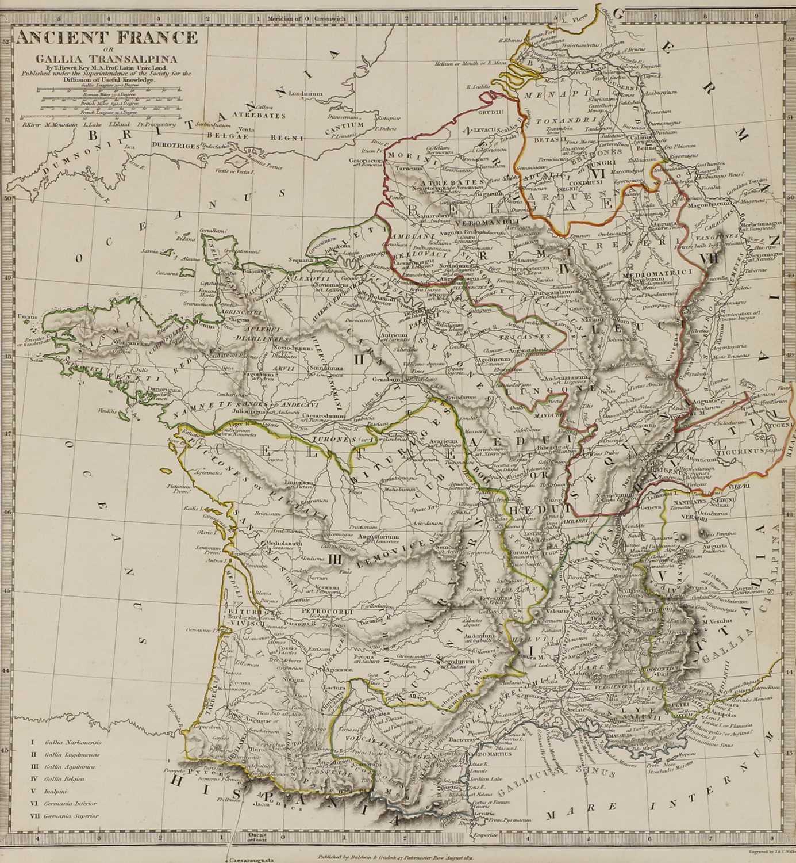A set of four old maps of Paris, the Environs of Paris, Bordeaux and Toulon, - Image 11 of 25