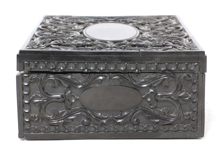 A Ceylonese ebony box, - Image 3 of 5