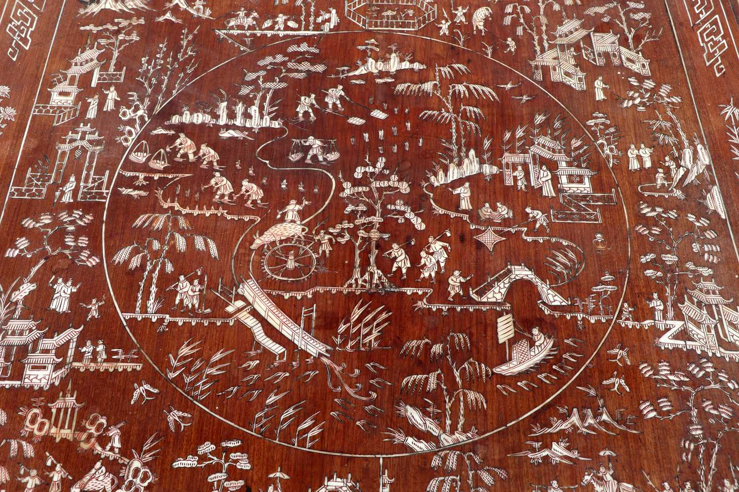A Chinese hardwood and ivory inlaid occasional table, - Image 6 of 10
