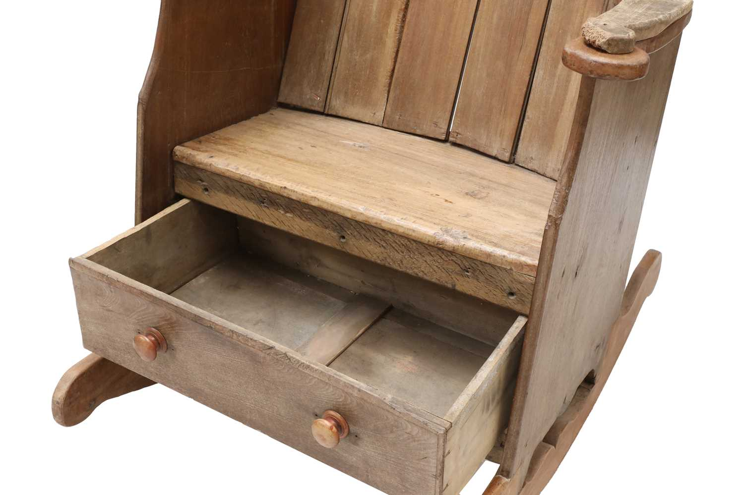 A rocking lambing chair, - Image 7 of 8
