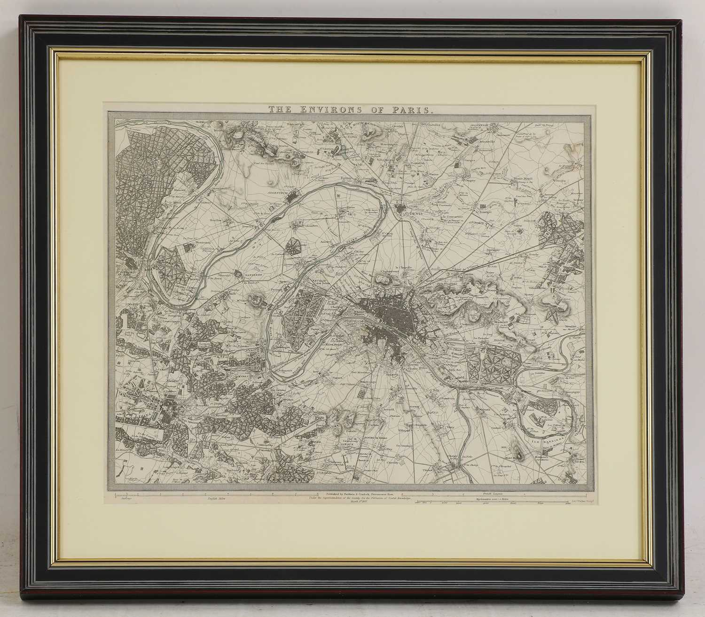 A set of four old maps of Paris, the Environs of Paris, Bordeaux and Toulon, - Image 5 of 25