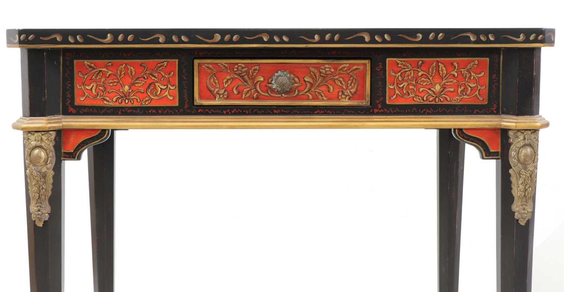 A pair of Napoleon III-style lacquered chinoiserie side tables, - Image 8 of 10