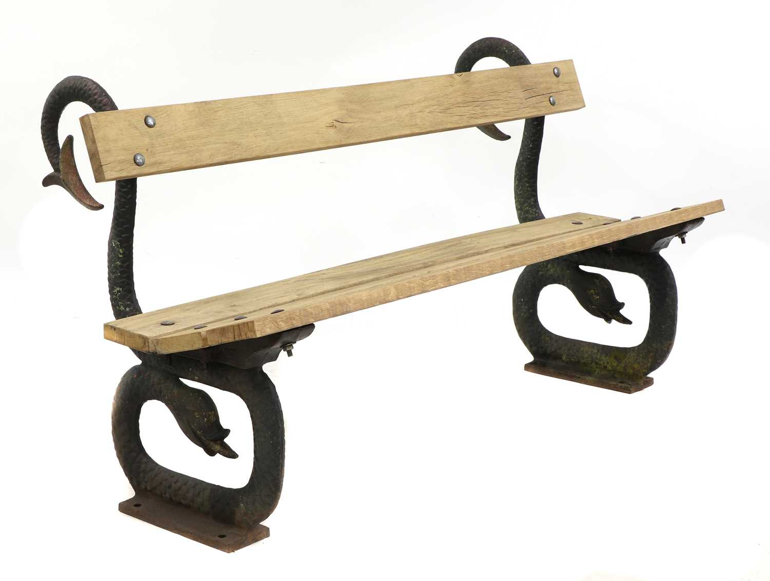 A cast iron garden seat, - Image 2 of 5