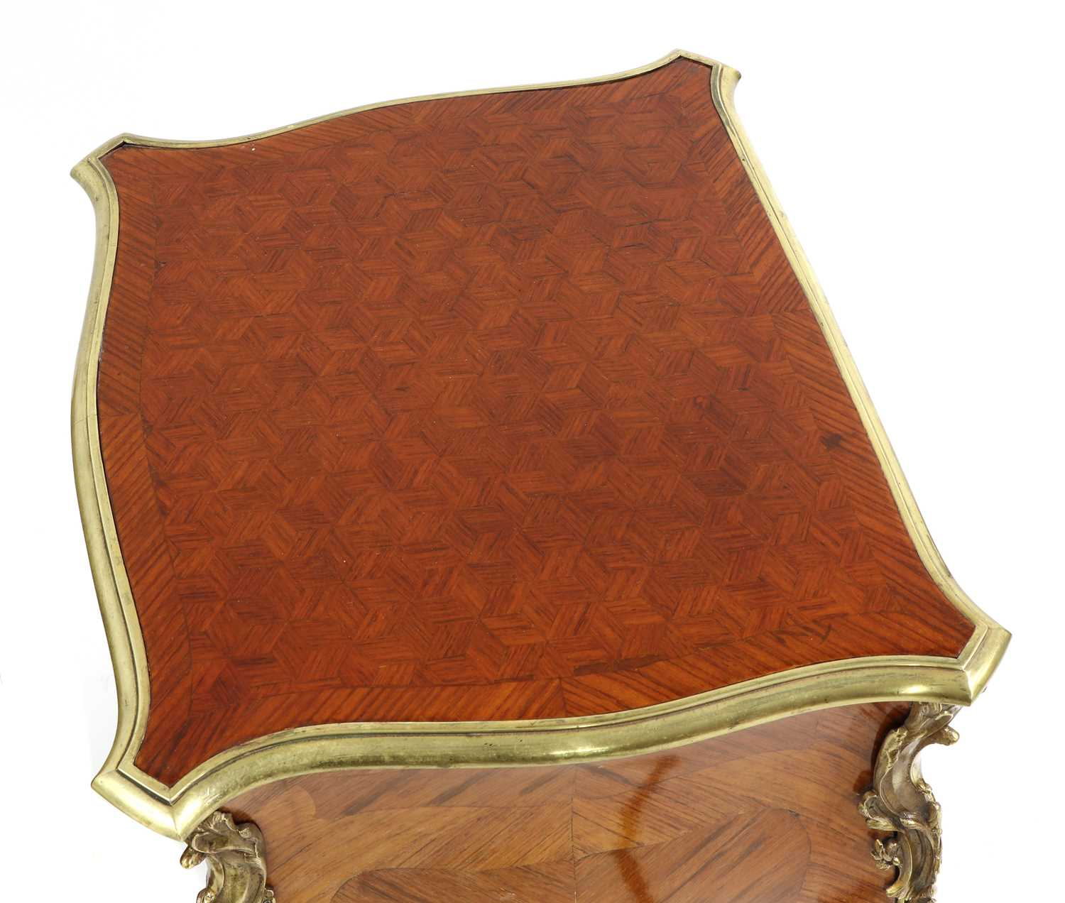 A pair of French Louis XV-style kingwood and ormolu night tables, - Image 5 of 9