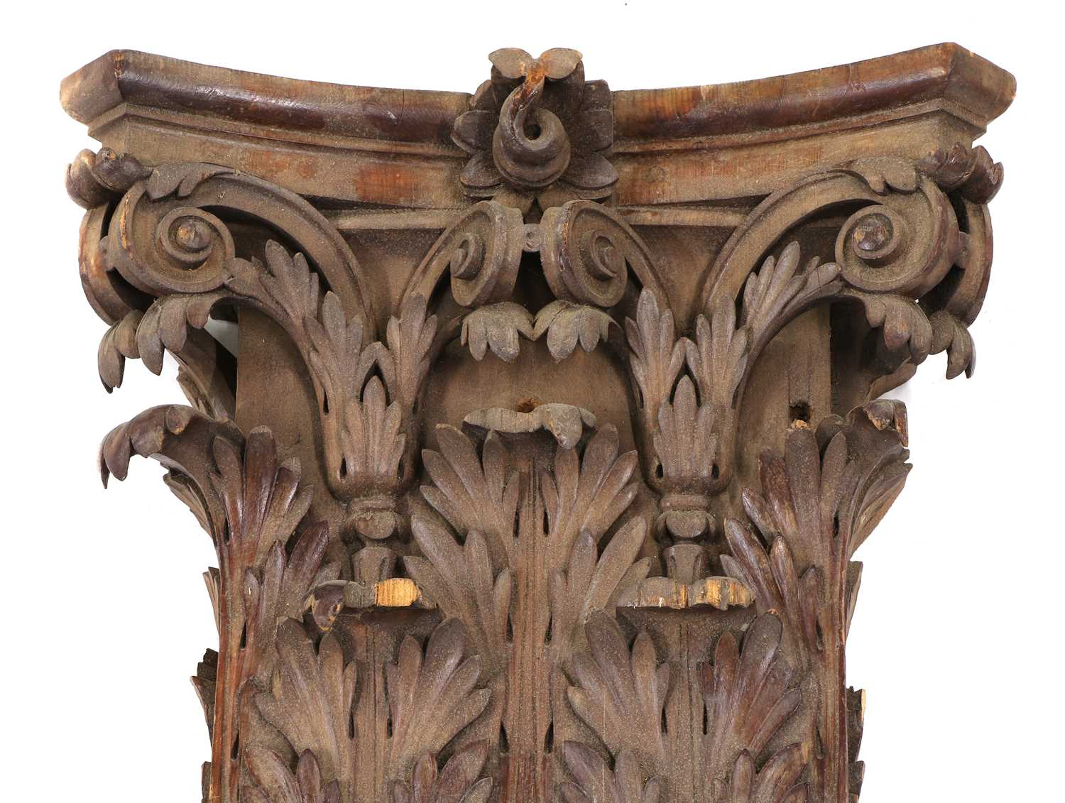 A pair of fluted pitch pine pilasters, - Image 6 of 10