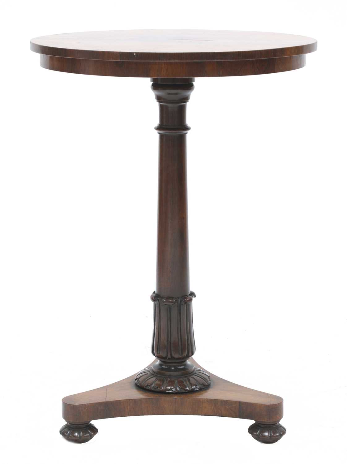 A William IV rosewood occasional table,