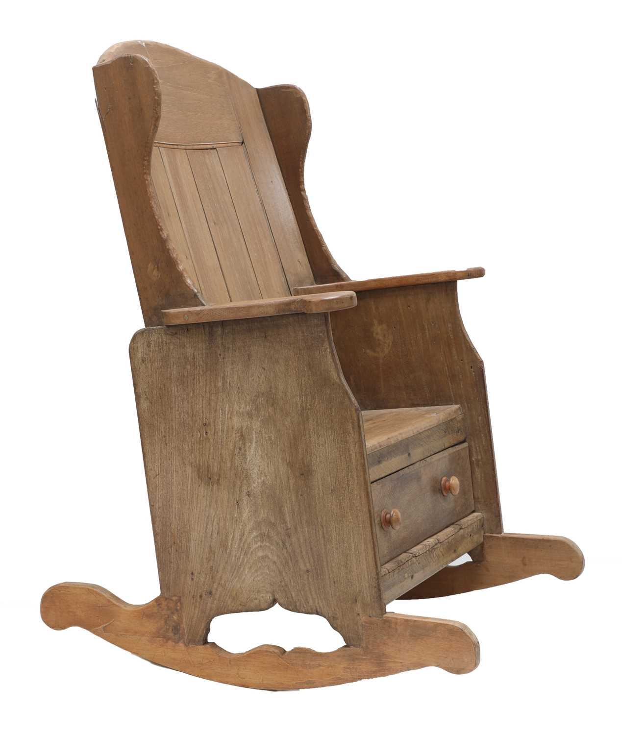 A rocking lambing chair, - Image 4 of 8