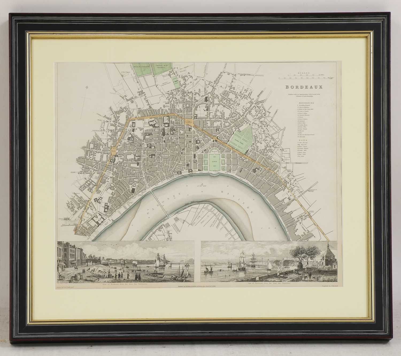 A set of four old maps of Paris, the Environs of Paris, Bordeaux and Toulon, - Image 10 of 25