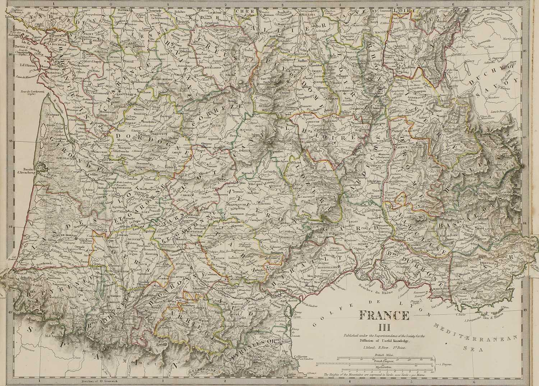 A set of four old maps of Paris, the Environs of Paris, Bordeaux and Toulon, - Image 23 of 25