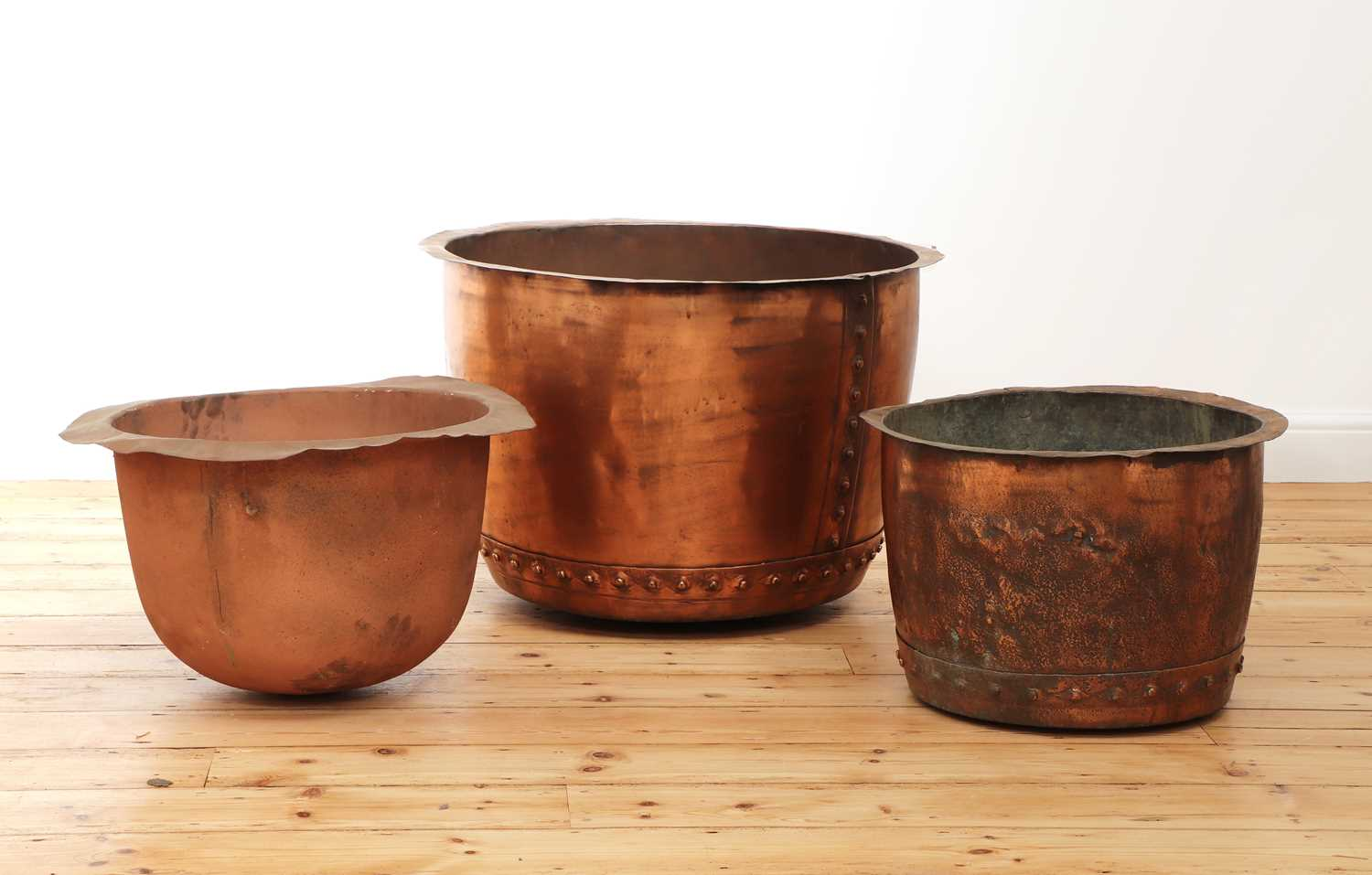 A large riveted copper copper, - Image 2 of 2