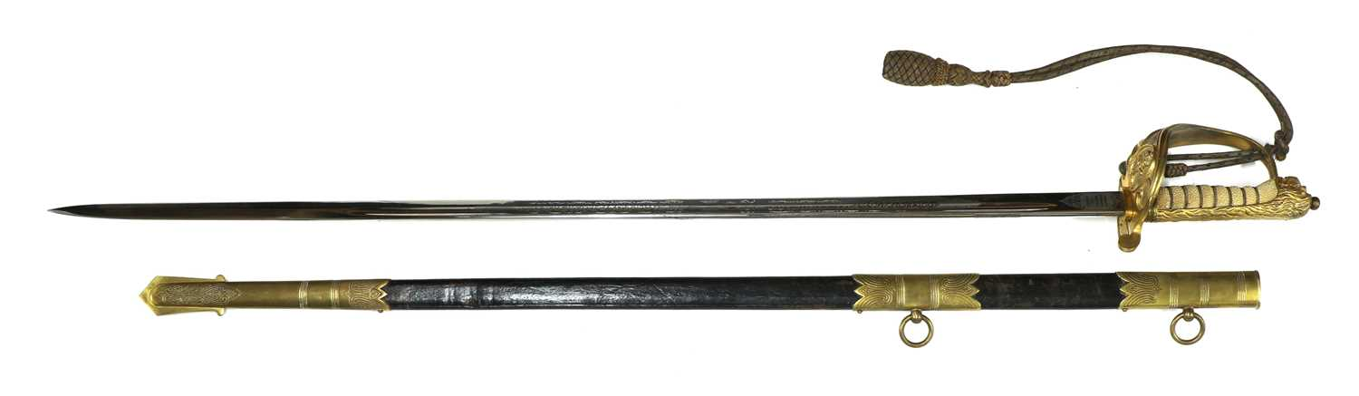 A George VI Royal Navy officer's sword, - Image 4 of 9