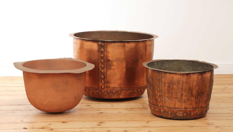 A large riveted copper copper,