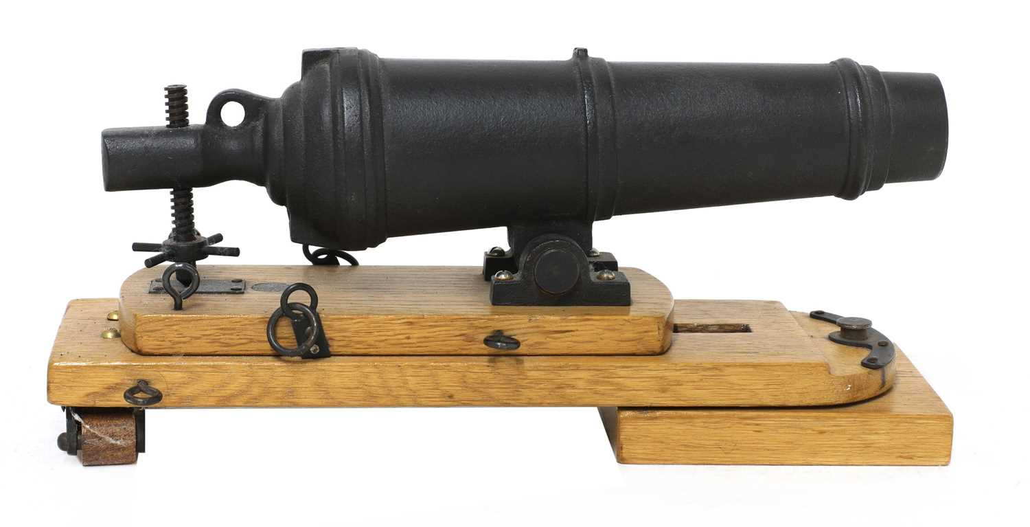 A model of a late 18th century naval carronade, - Image 2 of 5