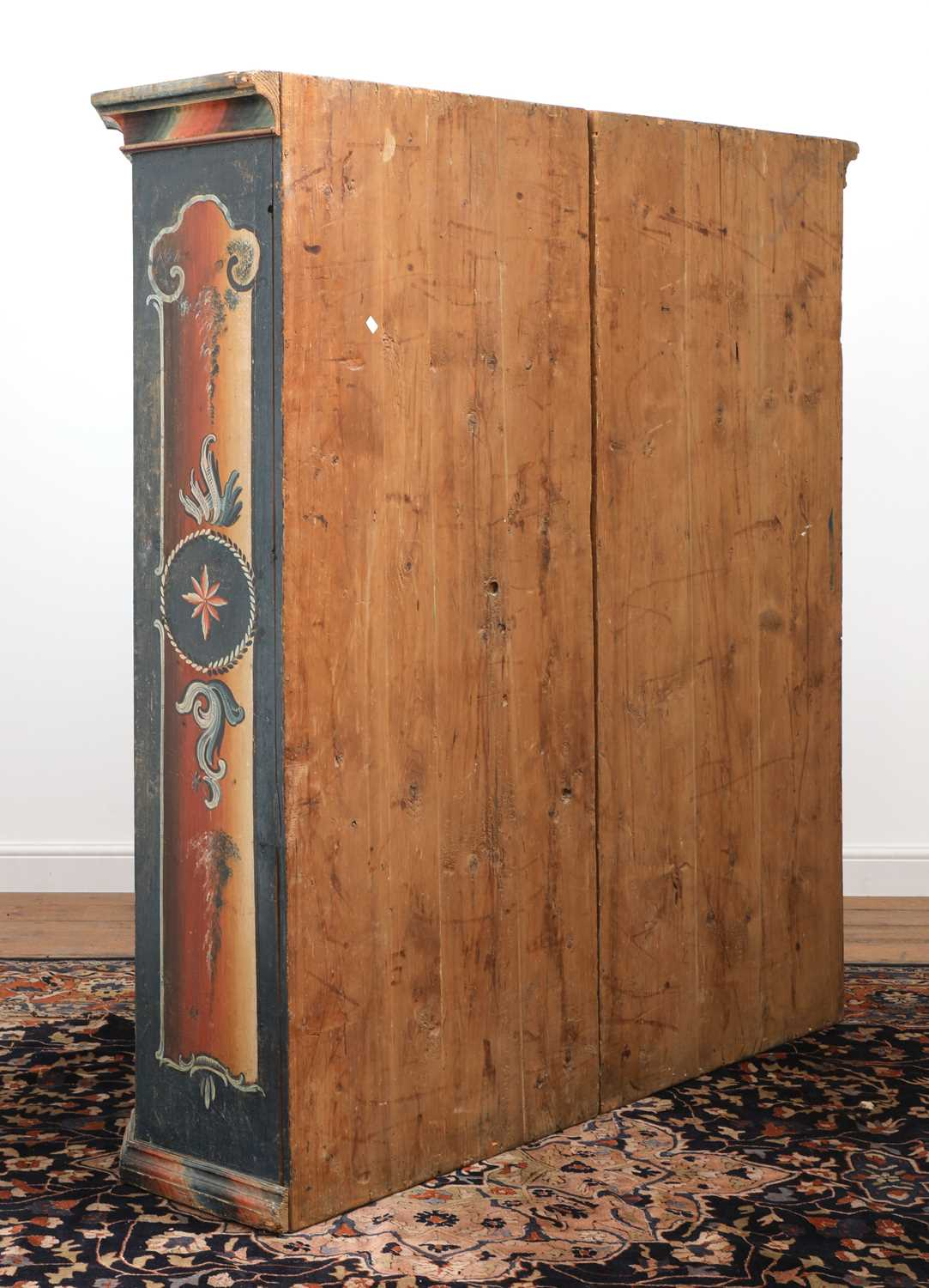 A Northern European painted pine armoire, - Image 10 of 10