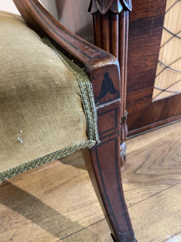A pair of Regency mahogany klismos chairs, - Image 49 of 67