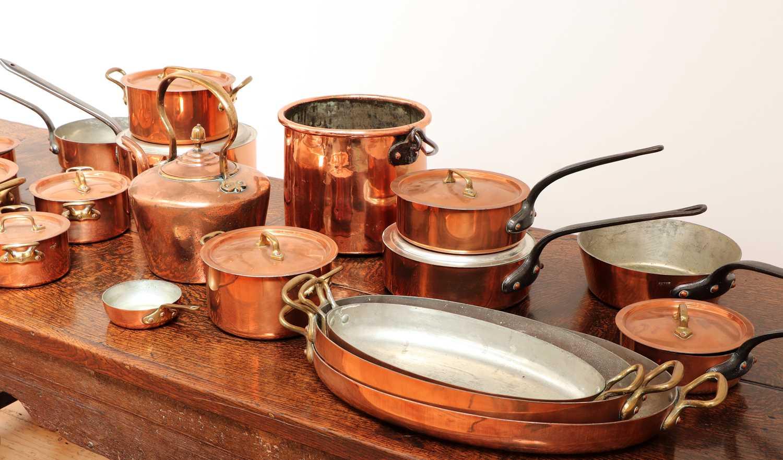 A copper batterie de cuisine, - Image 4 of 6