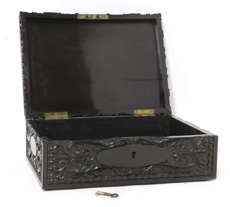 A Ceylonese ebony box, - Image 2 of 5