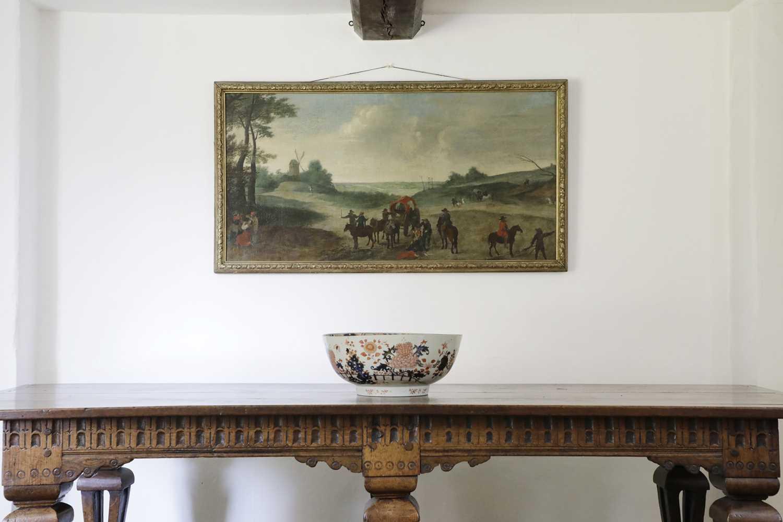 A large Chinese Imari punchbowl, - Image 2 of 6