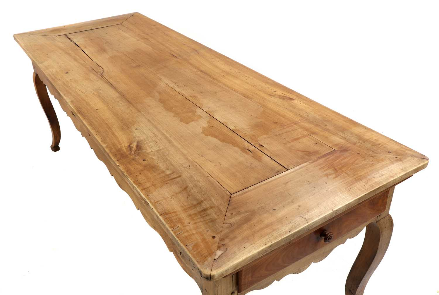 A French provincial sycamore kitchen table, - Image 6 of 10