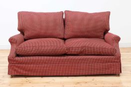 A modern two-seater sofa,
