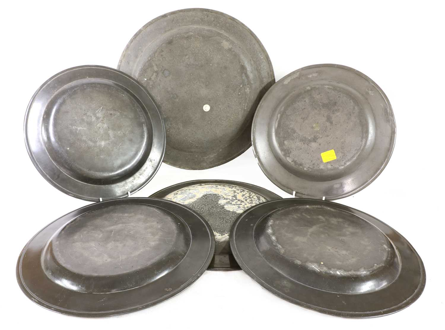 Eight pewter plates, - Image 2 of 5