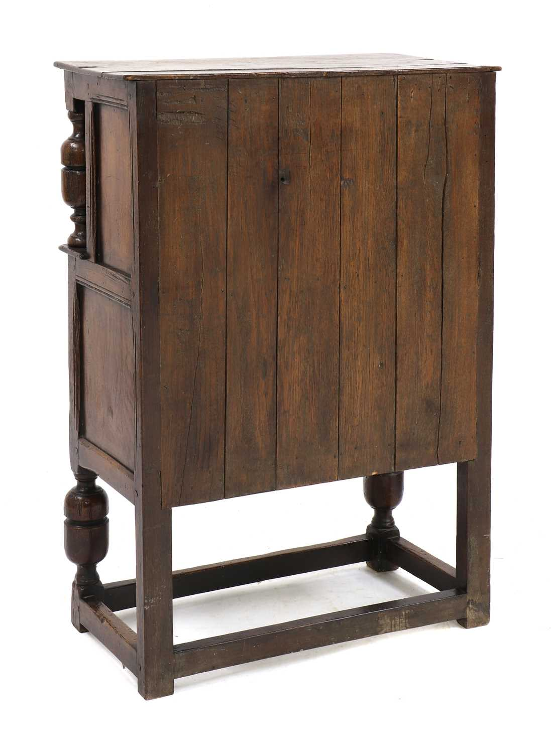 A small oak court cupboard, - Image 5 of 6