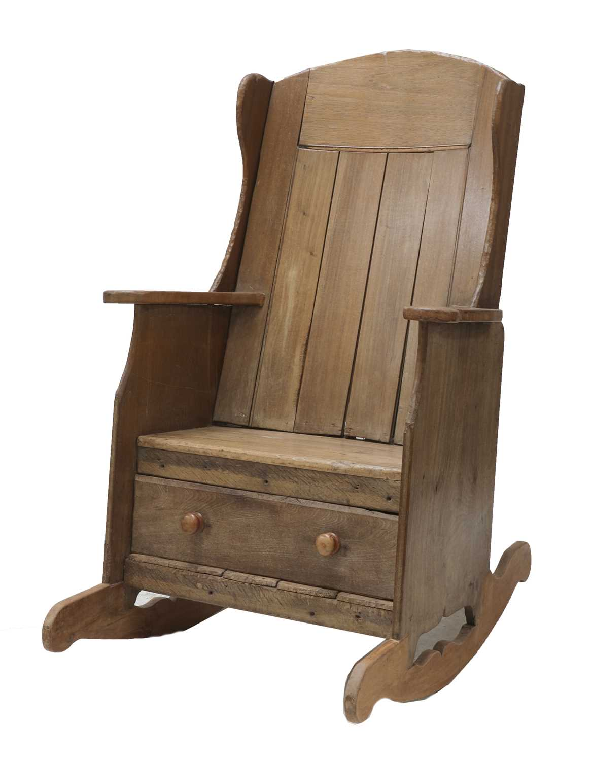 A rocking lambing chair, - Image 2 of 8