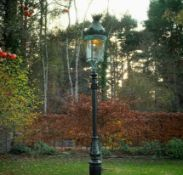 A Parisian cast iron and copper street lamp,