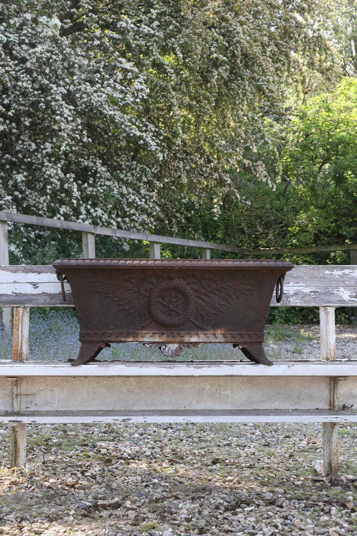 A cast iron planter, - Image 2 of 6