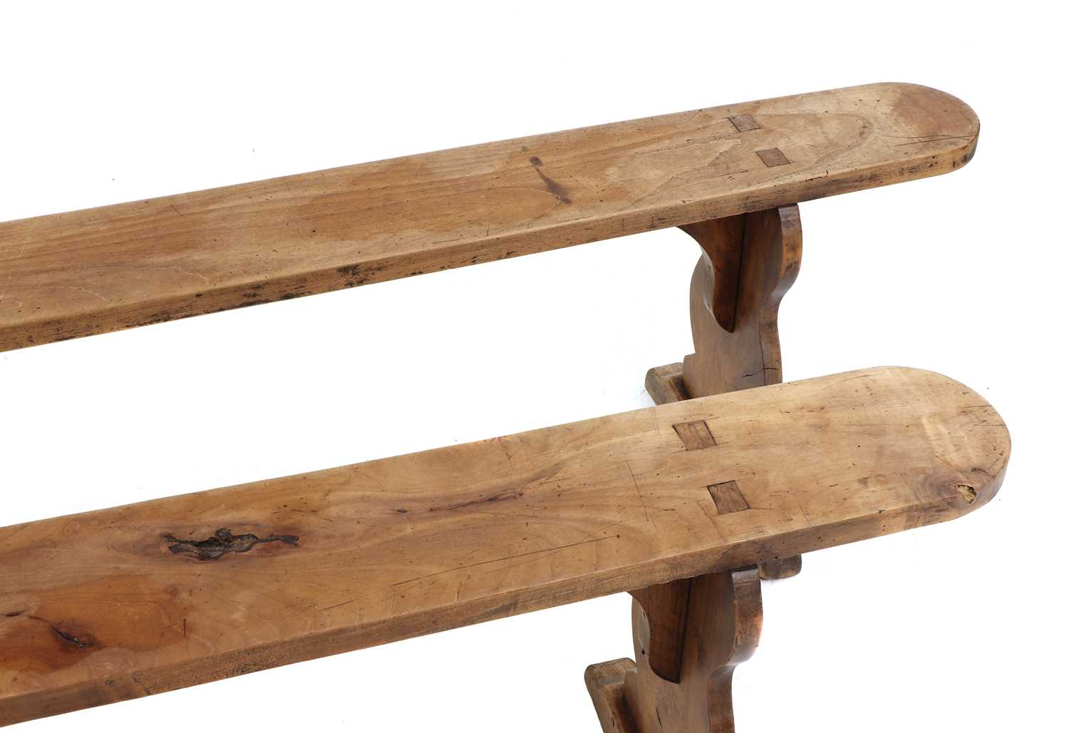 A French provincial sycamore kitchen table, - Image 10 of 10