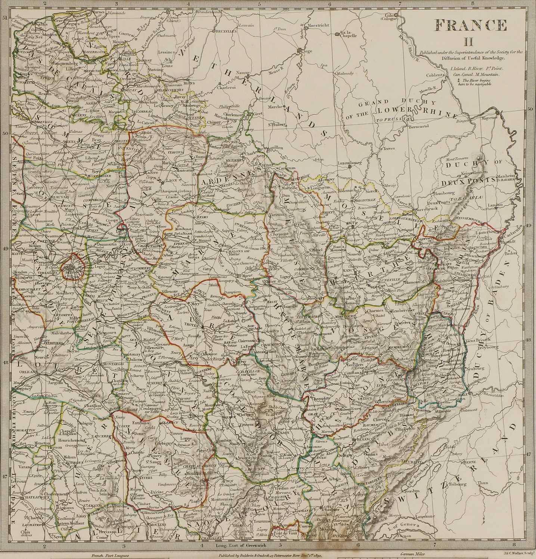 A set of four old maps of Paris, the Environs of Paris, Bordeaux and Toulon, - Image 20 of 25