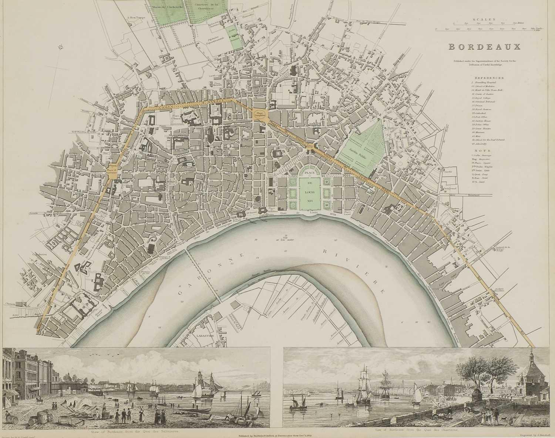 A set of four old maps of Paris, the Environs of Paris, Bordeaux and Toulon, - Image 9 of 25