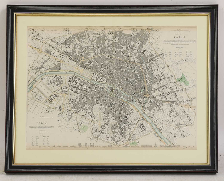 A set of four old maps of Paris, the Environs of Paris, Bordeaux and Toulon, - Image 2 of 25