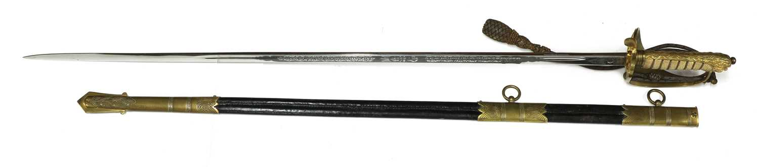 A George VI Royal Navy officer's sword, - Image 5 of 9