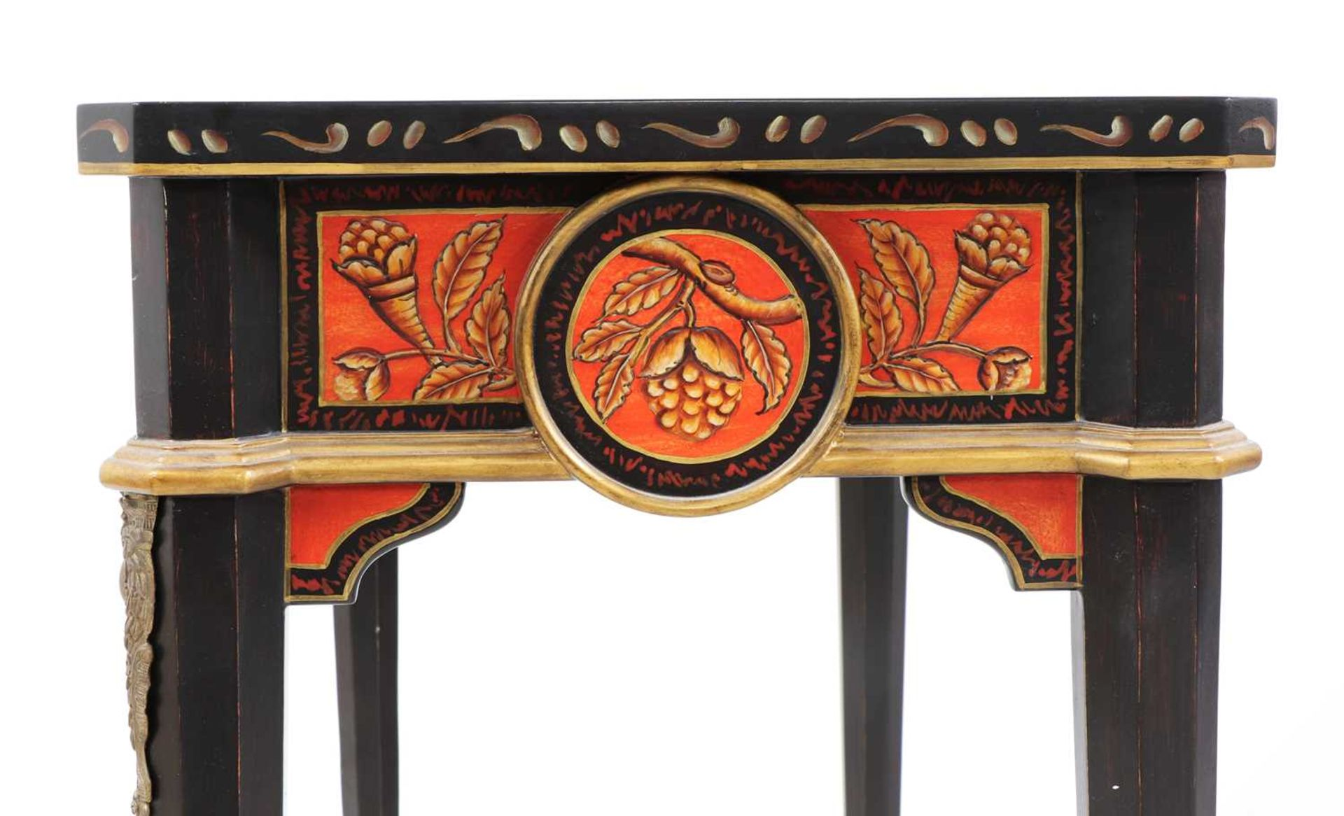 A pair of Napoleon III-style lacquered chinoiserie side tables, - Image 9 of 10