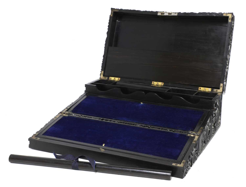 A Ceylonese ebony writing box, - Image 3 of 5