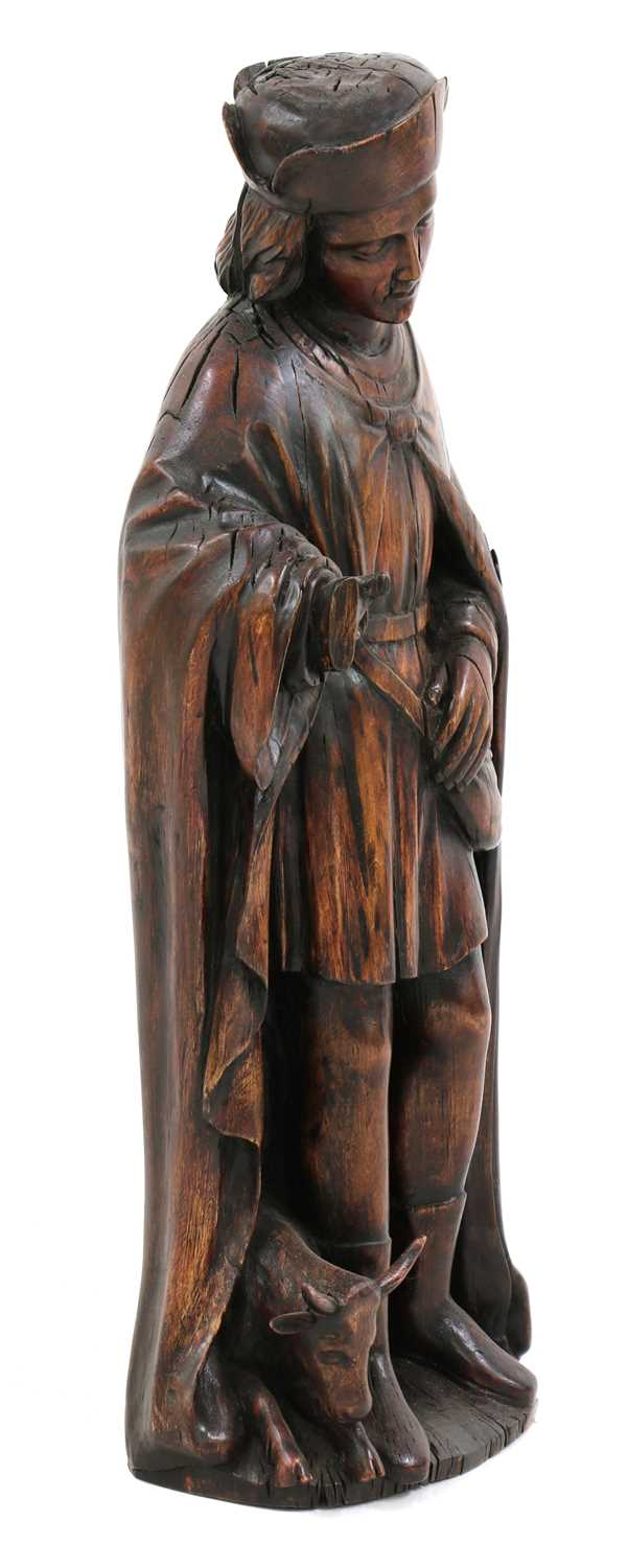 An Austrian carved wood figure of a hunter, - Image 2 of 4