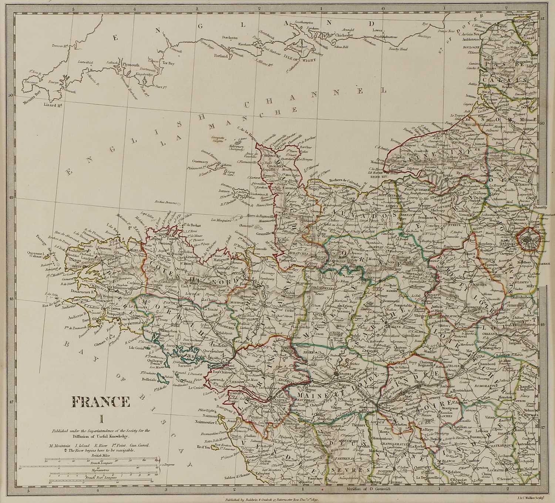 A set of four old maps of Paris, the Environs of Paris, Bordeaux and Toulon, - Image 14 of 25