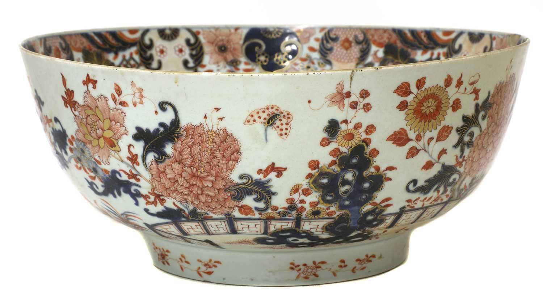 A large Chinese Imari punchbowl, - Image 3 of 6