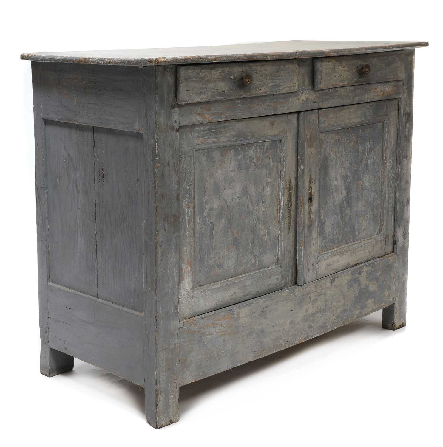 A French grey-painted cupboard, - Image 2 of 4