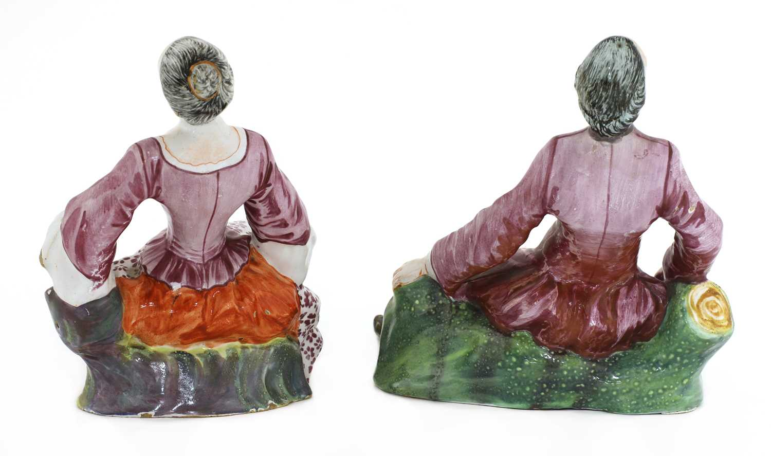 A pair of Niderviller faience figures, - Image 3 of 4