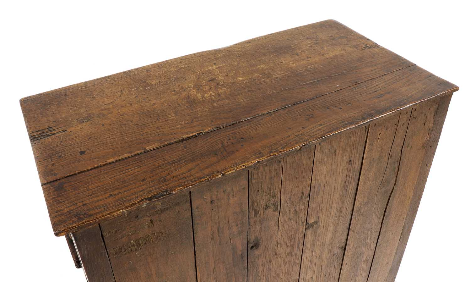 A small oak court cupboard, - Image 6 of 6
