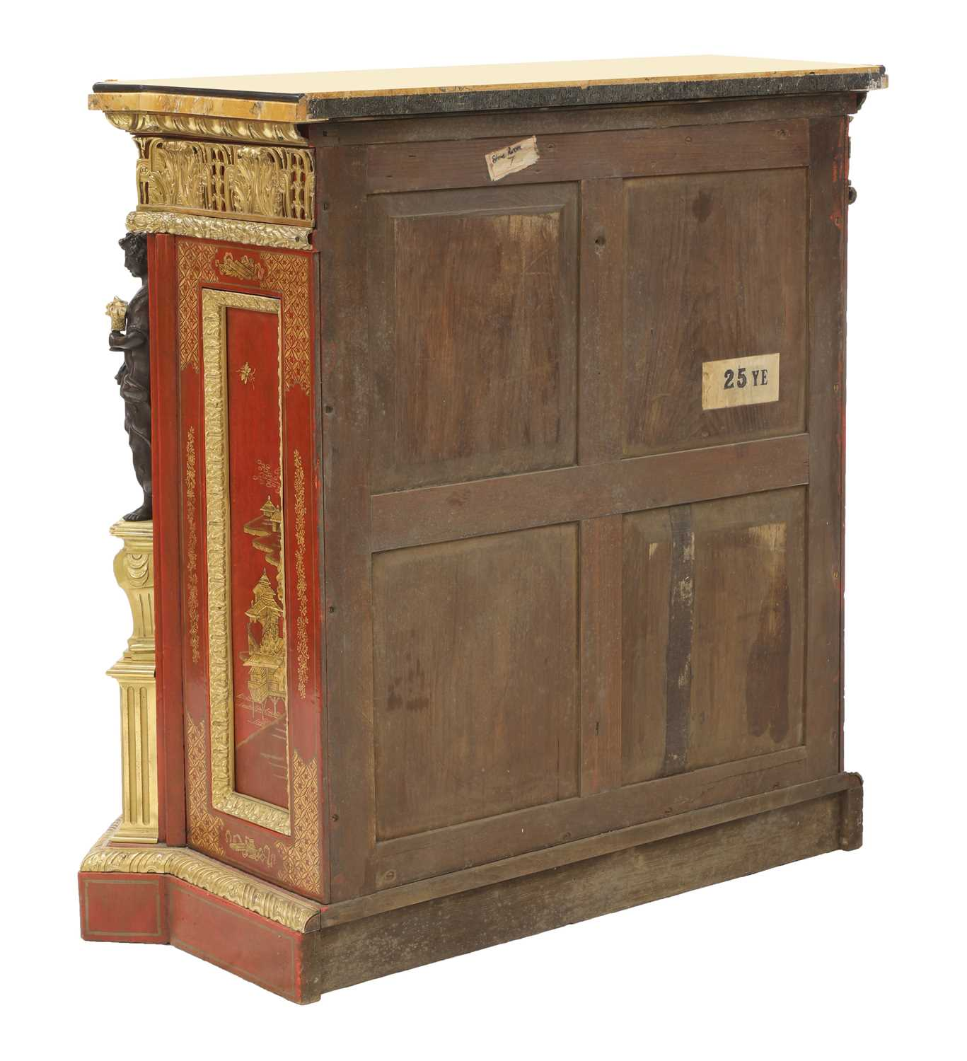A red-lacquered and ormolu-mounted pier cabinet, - Image 7 of 16