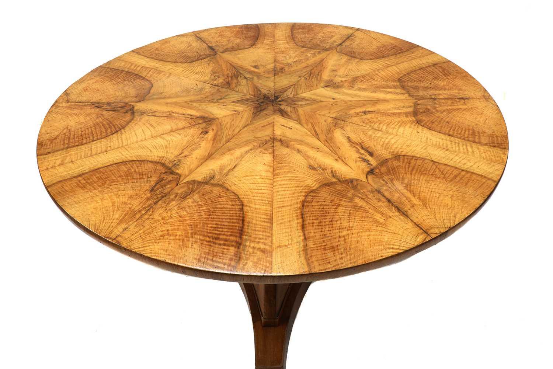 A walnut Biedermeier centre table, - Image 3 of 9