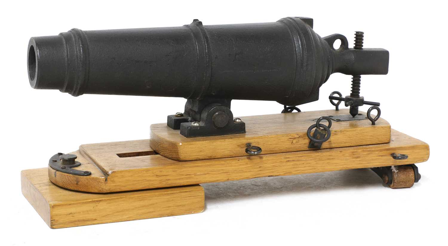 A model of a late 18th century naval carronade, - Image 4 of 5