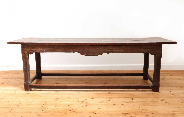 An oak refectory table,