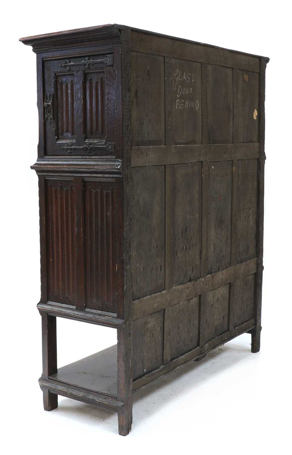 A Gothic-style oak cupboard, - Image 4 of 6