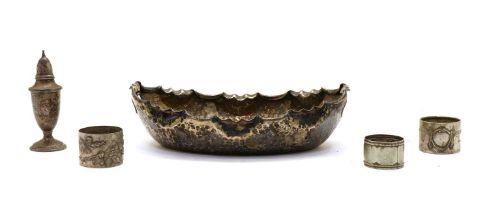 A Continental silver bowl,
