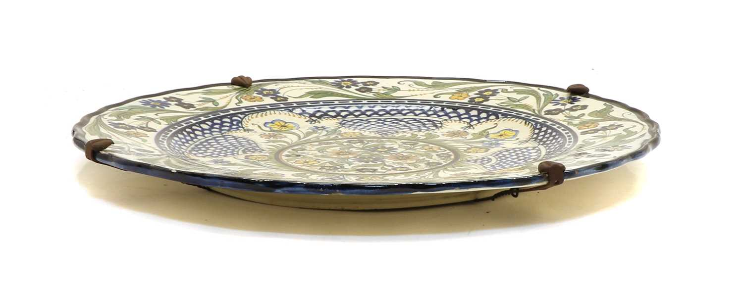 A Continental pottery charger, - Image 2 of 3